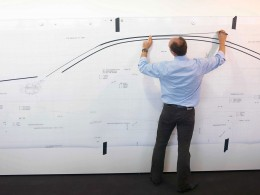 BMW design process - Full scale Tape Drawing