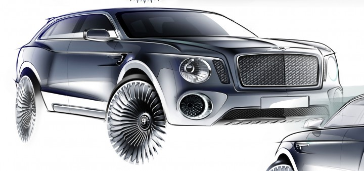 bentley exp   concept car body design