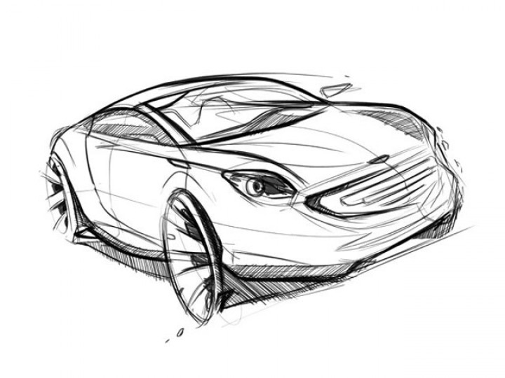 Car sketch in Photoshop – Part 1