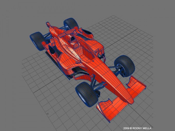 GP2 car modeling in LightWave