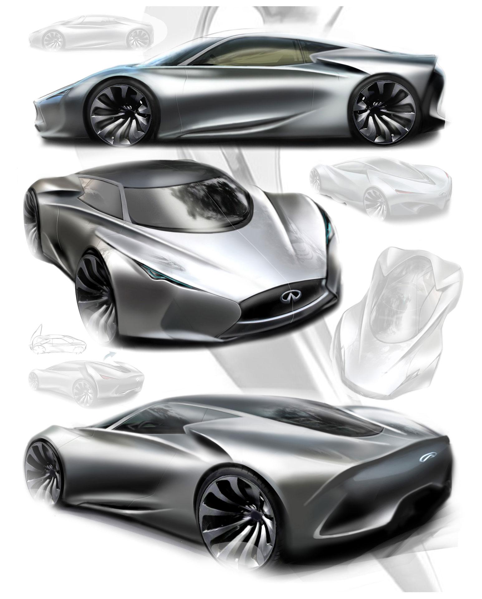 Infiniti Emerg E Concept Design Sketches Car Body Design