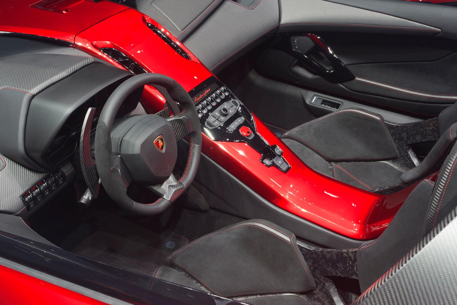 Lamborghini Aventador J Interior Car Body Design