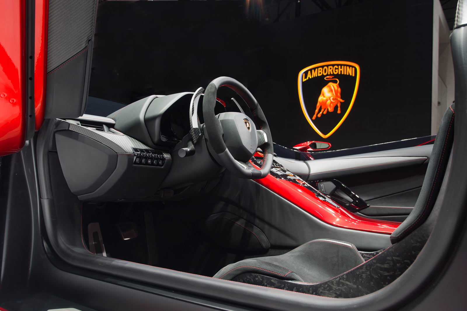 Lamborghini Aventador J Interior Car Body Design