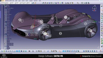 KIA Shift Concept - CATIA screenshot