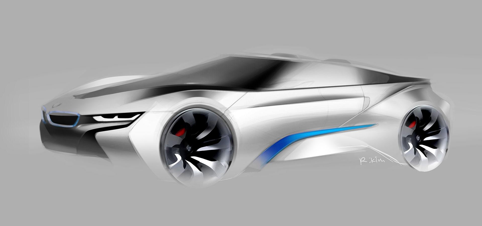 Bmw I8 Concept Spyder Design Sketch Car Body Design
