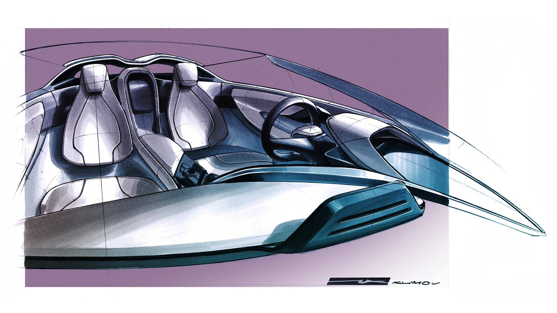 Bmw I8 Concept Spyder Interior Design Sketch Car Body Design