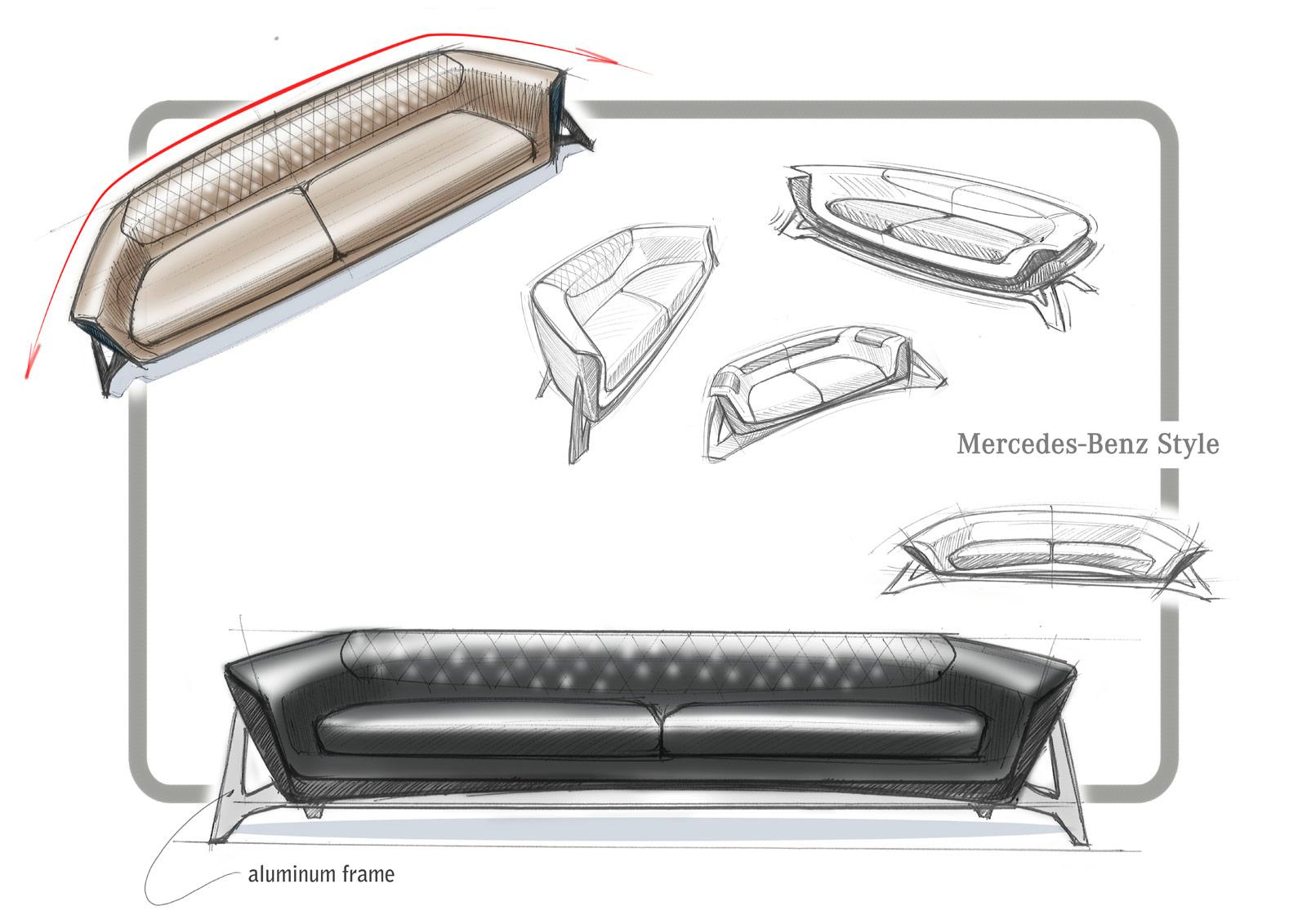 Mercedes Benz Sofa Class Mbs 001 Design Sketch Car Body Design