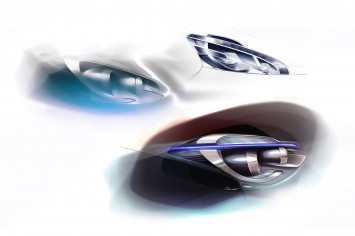 Peugeot 208 - Headlight Design Sketches
