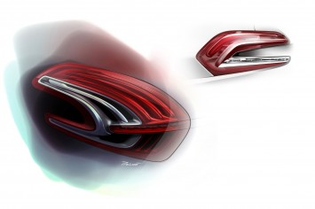 Peugeot 208 - Tail Light Design Sketch