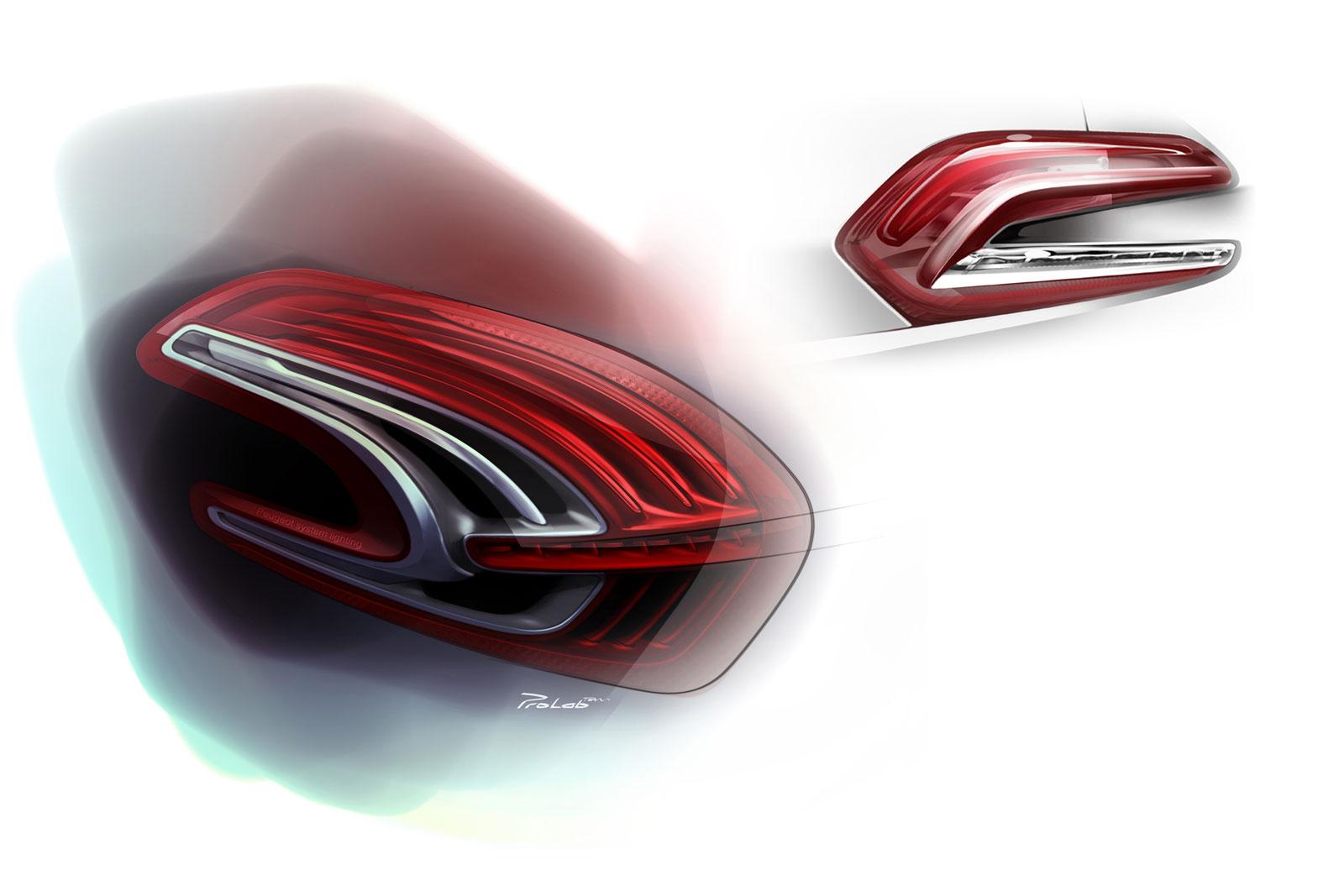 Peugeot 208 Tail Light Design Sketch Car Body Lights Wiring Diagram