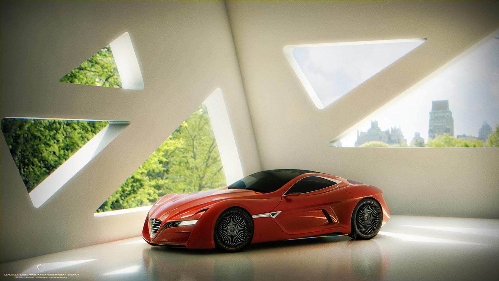 Alfa Romeo C12 Gts Concept Car Body Design Modifications