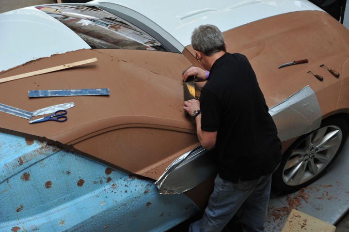 Jaguar c-x16 to be modeled in clay at clerkenwell design week.