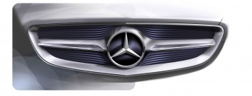 Mercedes-Benz F 800 Style - radiator grille design sketch