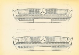 Mercedes-Benz SL - 1967 Study for a possible radiator grille
