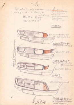 Mercedes-Benz SL - 1968 study for a possible radiator grille