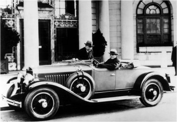 1926 - Harley Earl at the wheel of a 1927 LaSalle Series 303 Roadster