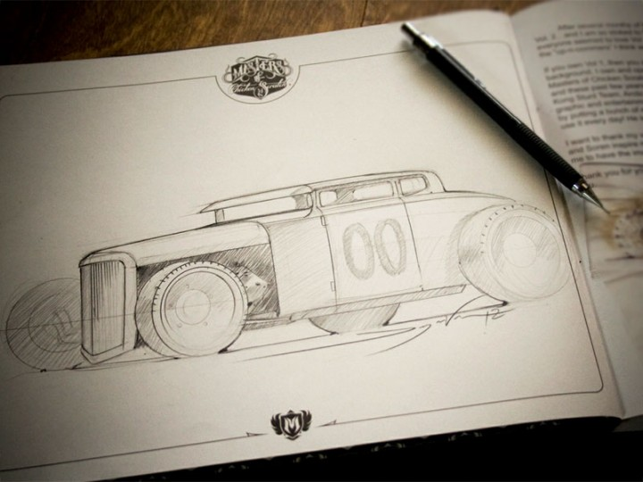Hot Rod Freestyle Sketching