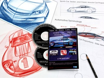 How to Draw Cars Now DVD set content