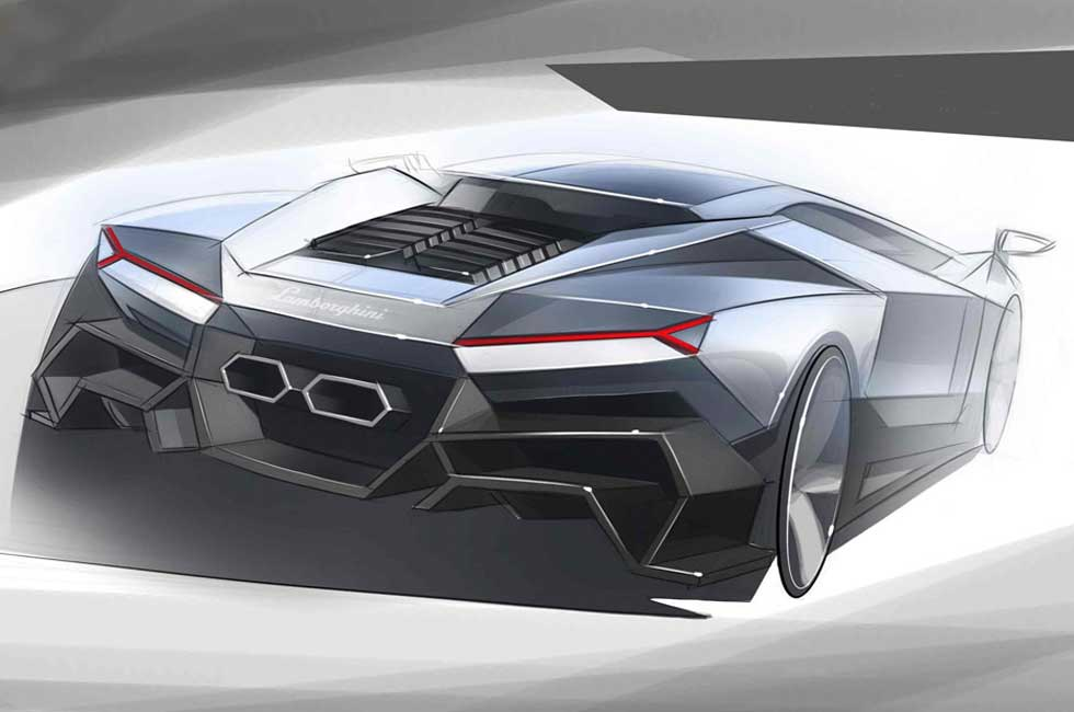 Lamborghini Cnossus Concept Design Sketch Car Body Design