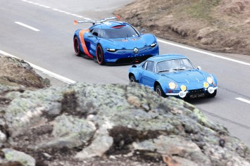 Renault Alpine A110-50 Concept and the original Alpine A110