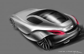 Bentley 2030 Concept Design Sketch