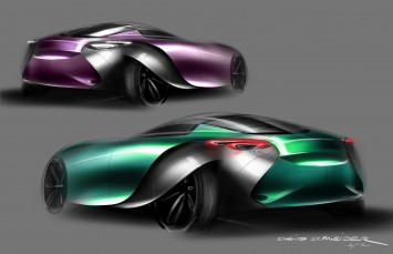 Bentley 2030 Concept Design Sketches