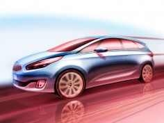 New Kia Carens: preview sketches