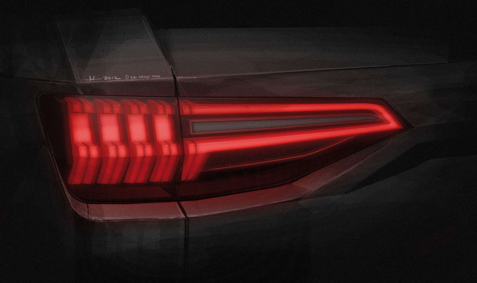 Audi Crosslane Coupe Concept Tail Light Design Sketch