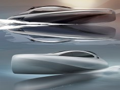Mercedes-Benz Style previews Silver Arrows motor yacht