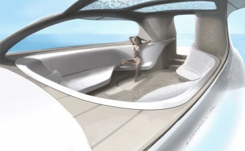 Mercedes-Benz Silver Arrows Motor Yacht Interior Design Sketch