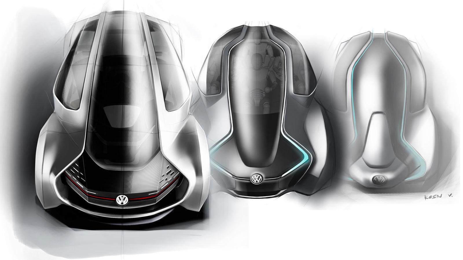 Volkswagen Trimaran Concept Methods Car Body Design