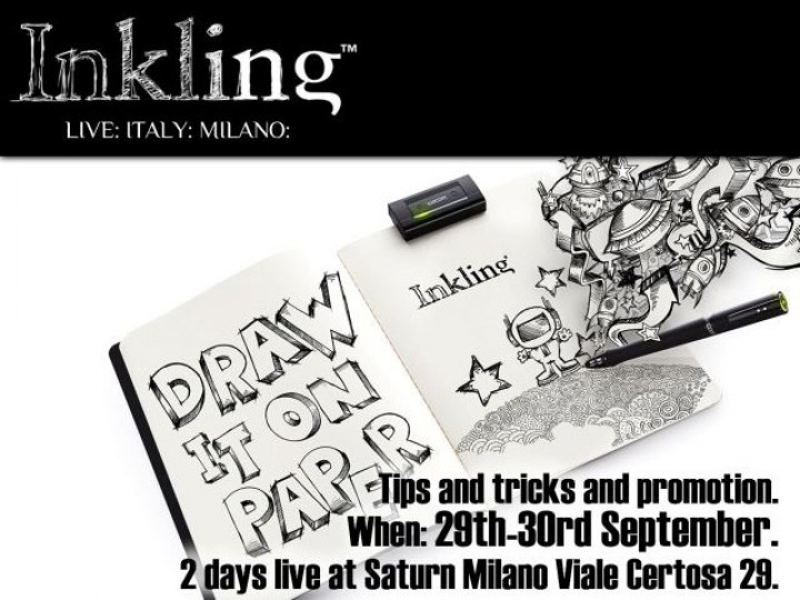 Wacom Inkling and Intuos 5 demo in Milan