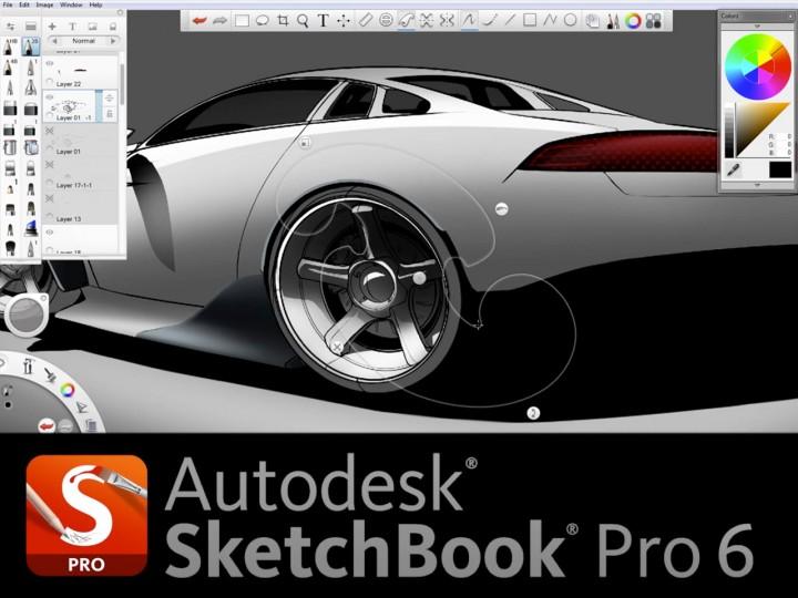 Autodesk Sketchbook Pro 6 Car Body Design