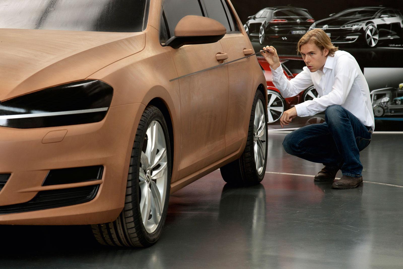 Volkswagen Golf Vii Clay Model Car Body Design