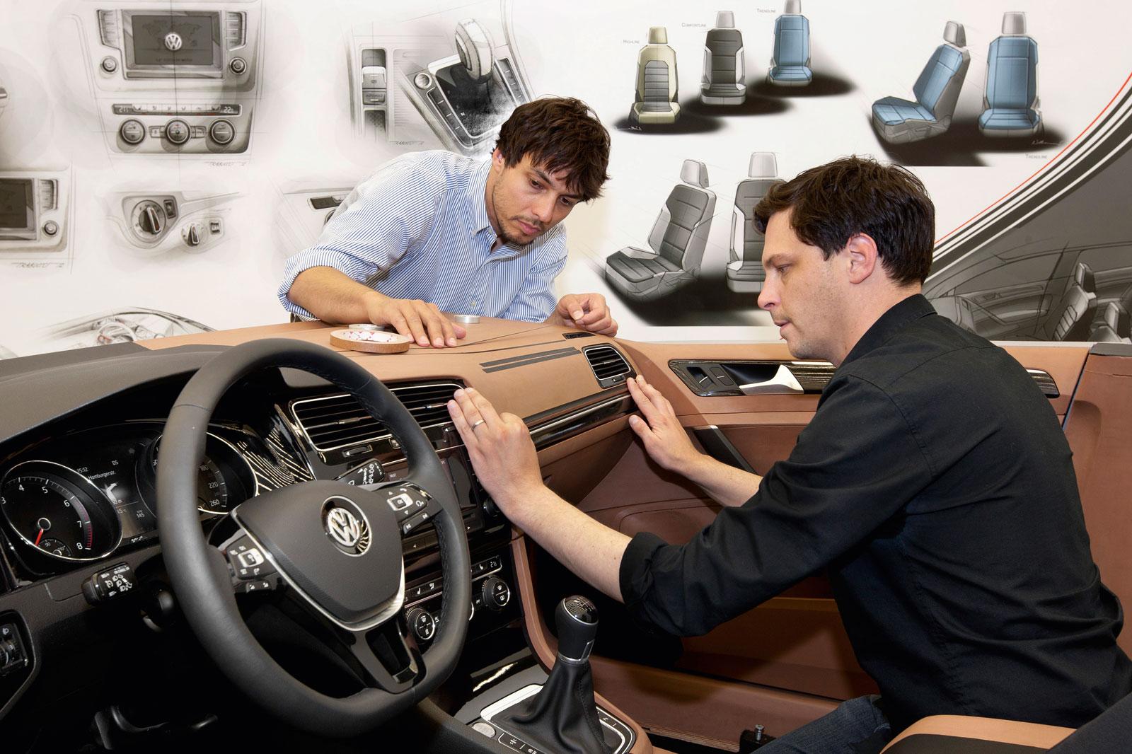 Volkswagen Golf VII - Interior Clay Model - Car Body Design