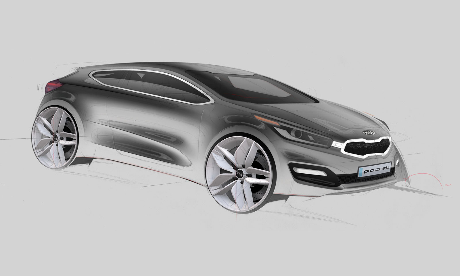 2012 Kia Pro Cee D Design Sketch Car Body Design