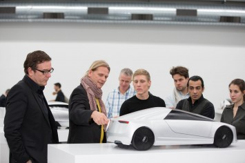 Audi Head of Exterior Design Achim Badstubner discusses a model from the Dream Car project