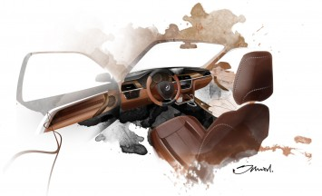 BMW Concept 4 Series Coupe - Interior Design Sketch