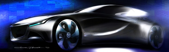 Mazda Soul of Motion Design Sketch