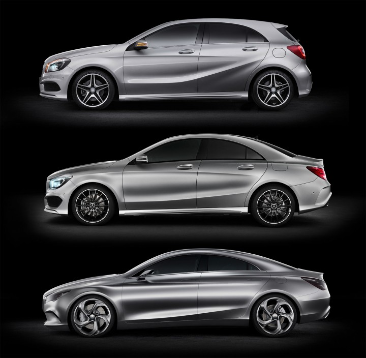 Mercedes-Benz A-Class, CLA-Class and Concept Styl Coupe
