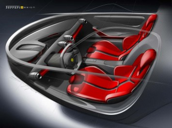 LaFerrari Interior Design Sketch