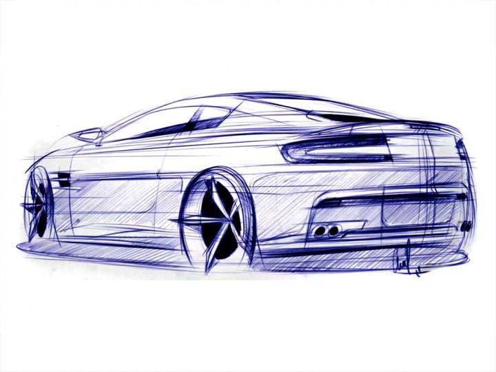 aston martin vantage sketch car body design. Black Bedroom Furniture Sets. Home Design Ideas