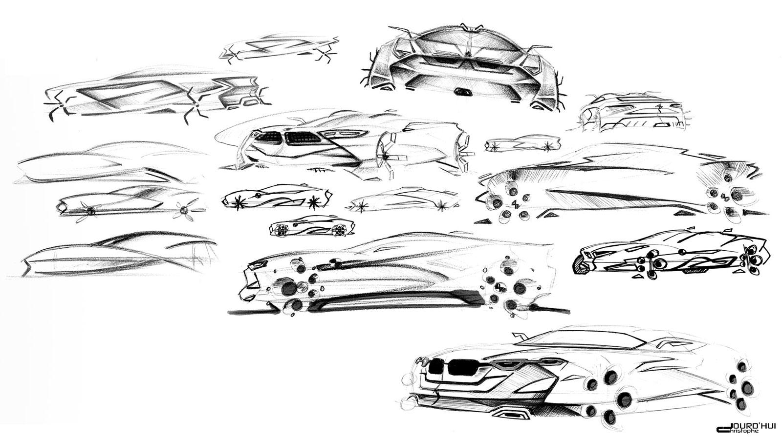 bmw mz8 concept design sketches