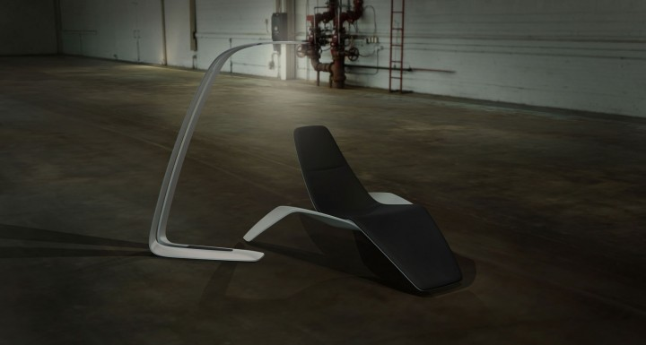 Ford Design Lamp and Chair Rendering