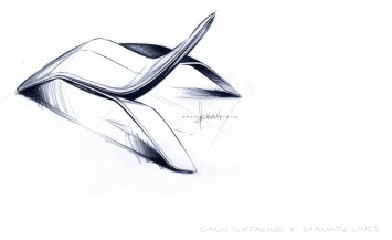 Ford design Lounge Chair - Design Sketch
