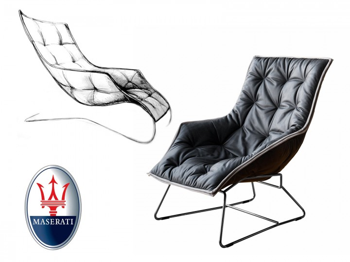 Milan Design Week: Lounge Chair by Maserati and Zanotta