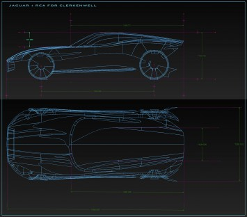 Jaguar Design Sculpture by RCA students - CAD wireframe views