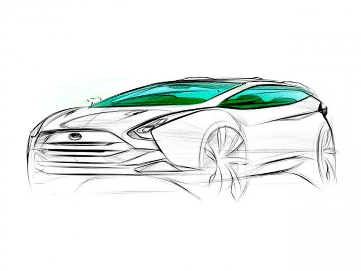 Car sketching tutorial – front quarter view