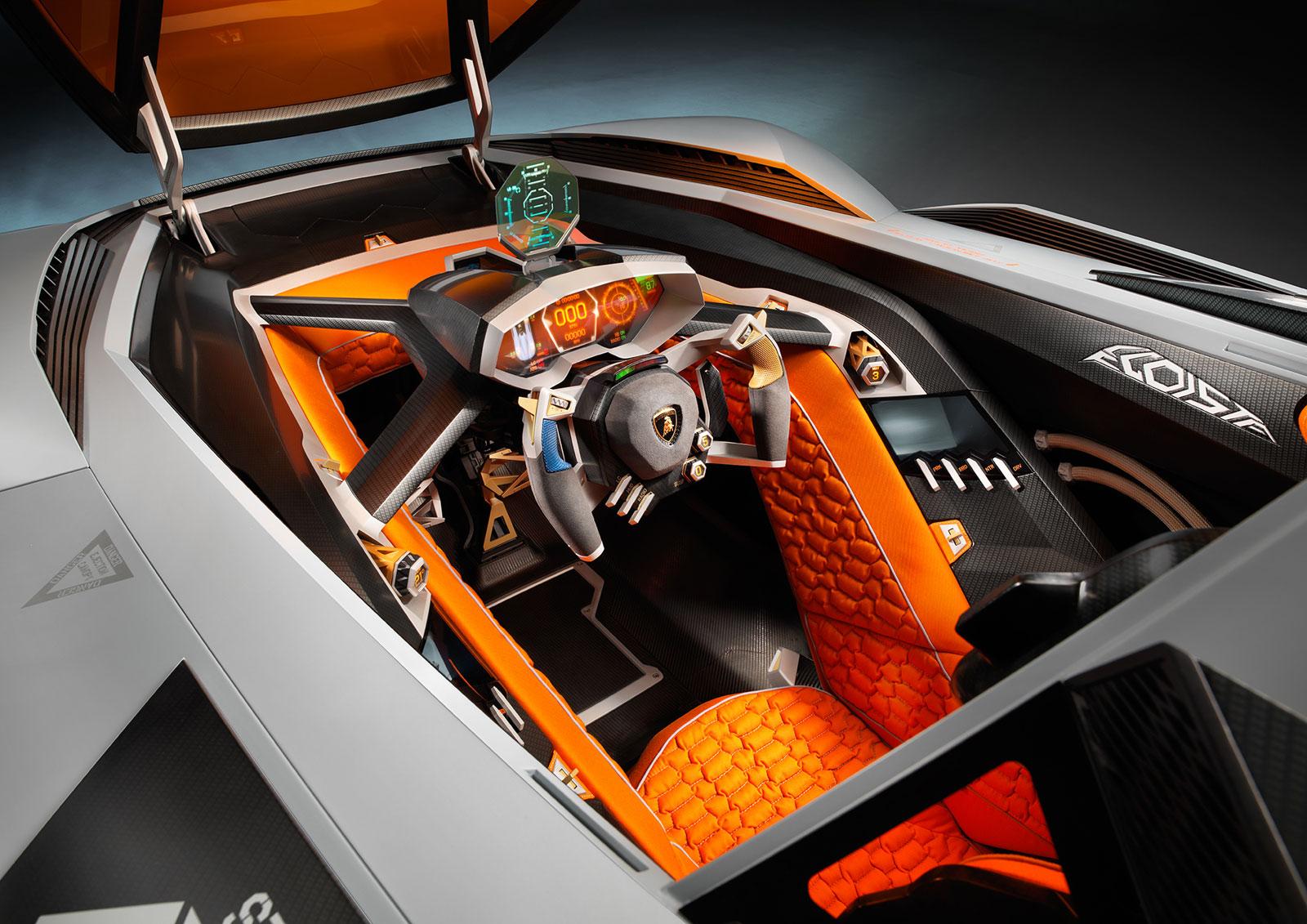 Lamborghini Egoista Concept Interior Car Body Design