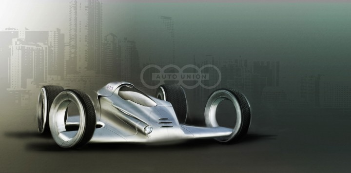 Audi Auto Union race car concept by Peter Ten Klooster